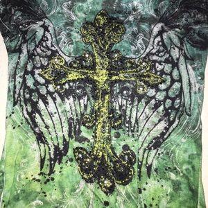 Daytrip Tops - Daytrip green cross shirt- size small